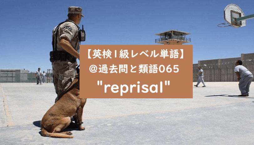 英検1級 reprisal